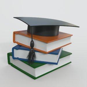 cartoon book 3D model