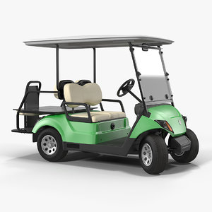golf car gas motor 3D model