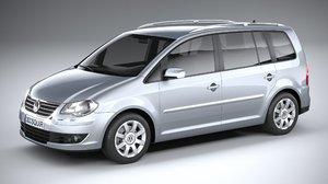 3D model volkswagen touran 2007