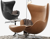 Egg lounge chair leather