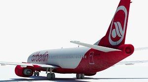 3D model passenger plane cab airplane aircraft
