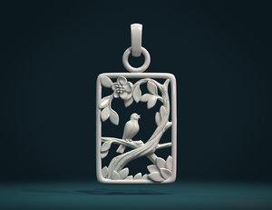 bird pendant 3D model