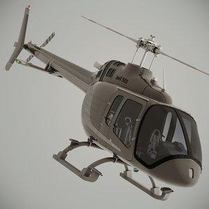 bell 505 jet ranger 3D