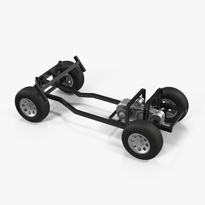3D golf cart chassis engine