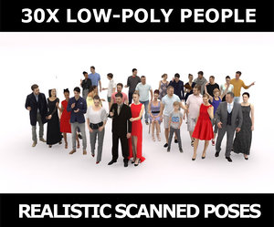 scanned people casual polygons 3D