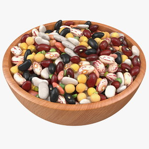 mixed legume beans plate 3D model
