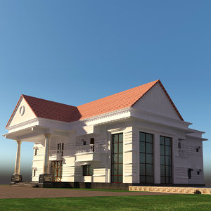 3D residential duplex house