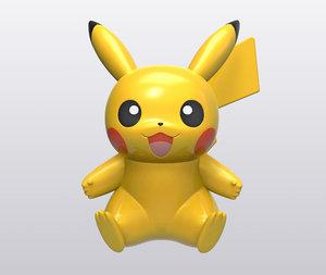 pikachu zbrush printing 3D