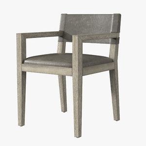 leather chair armchair 3D