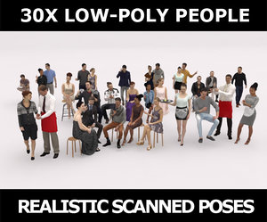 3D model scanned people casual