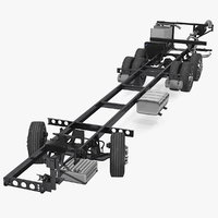 Volvo 9900 Bus Chassis Rigged