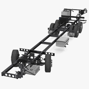 9900 bus chassis rigged 3D model