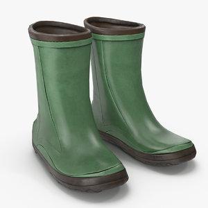 rain boots pbr 3D model