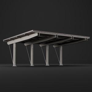 3D carport car