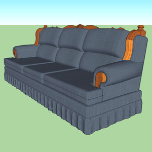 3D model couch country