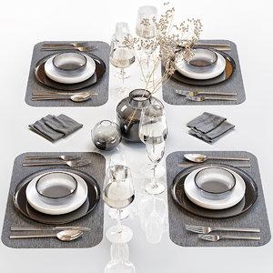 table setting 26 decor 3D model