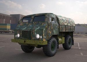 3D tam-110-military truck