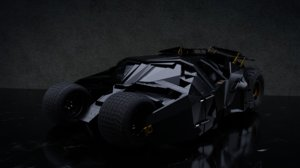 3D batmobile - tumbler dark