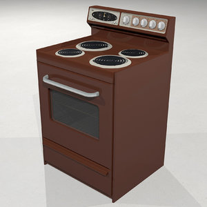 3D model stove oven vintage