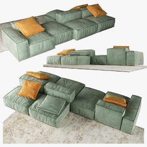 bonaldo peanut b sofa 3D model