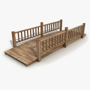 bridge wood wooden 3D