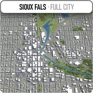 sioux falls surrounding - 3D model