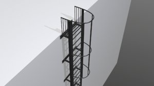 escape stairs model