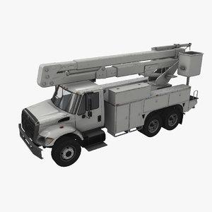 navistar bucket truck 3D model