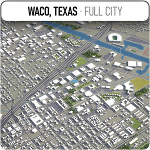 3D waco surrounding - model