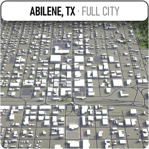 3D abilene texas surrounding -