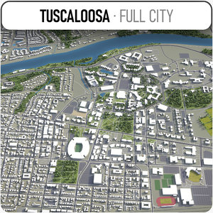city tuscaloosa surrounding - 3D