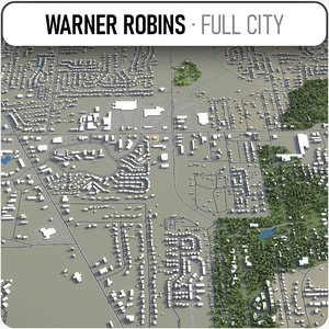 3D warner robins surrounding - model