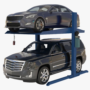 post parking car lift 3D