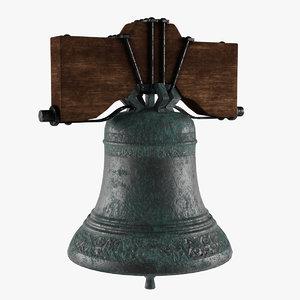 3D old church bell