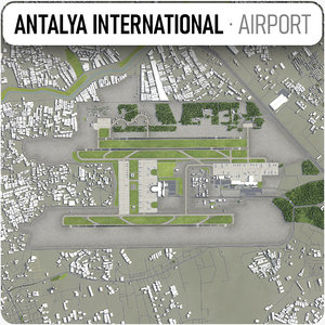 antalya airport - ayt 3D model