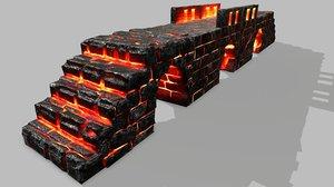 stair set 3D model