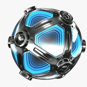 metal sphere lamp model