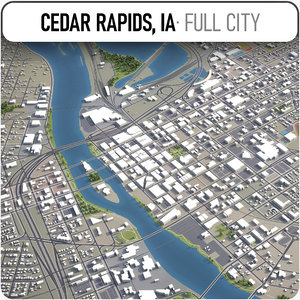 cedar rapids surrounding - 3D