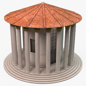 temple hercules victor 3D model