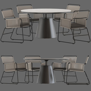 3D coco republic polo dining table model