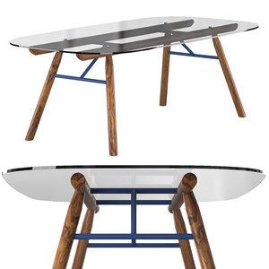 suite table 3D model