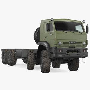 3D model kamaz 6350 8x8 military truck
