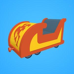 3D roller coaster model