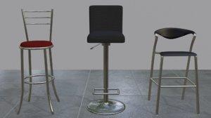 bar chairs 3D
