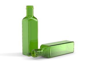 3D model glass olive oil bottle