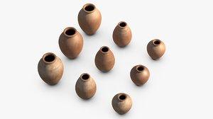 clay pots 3D model