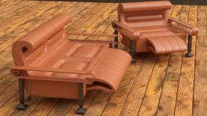 modern house sofa armchair 3D model