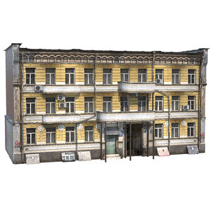 09 photorealistic european buildings 3D model