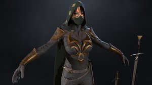 assassin girl 3D