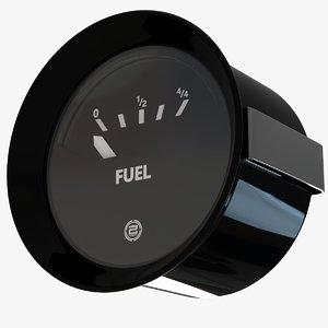 3D model fuel gauge